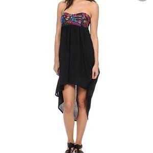 Billabong Desert Daze High Low Strapless Dress Med